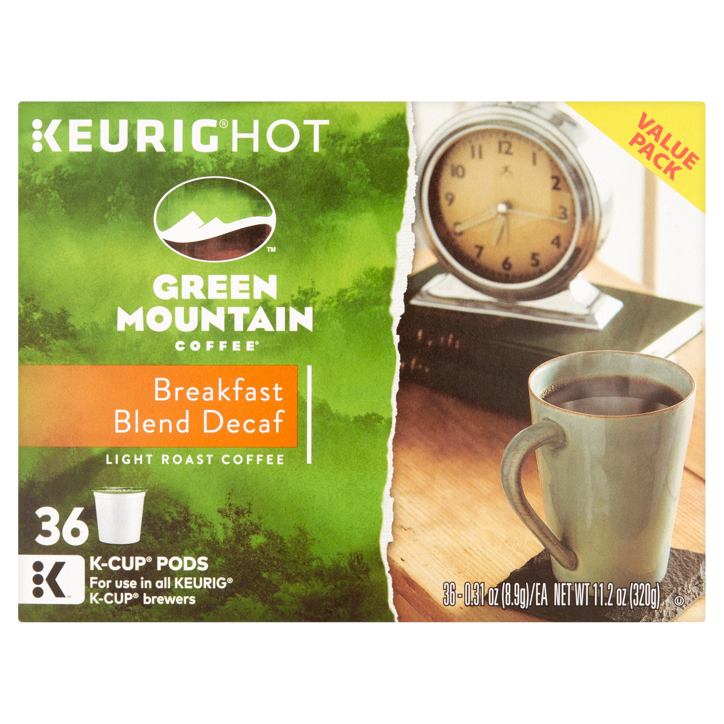 keurig green mountain coffee breakfast blend decaf coffee kcups 36 ct 031 - K Cups Bulk