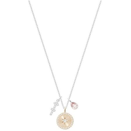 Swarovski Zodiac Pendant - Sagittarius - Pink - Rhodium plating - - Swarovski Zodiac Rat