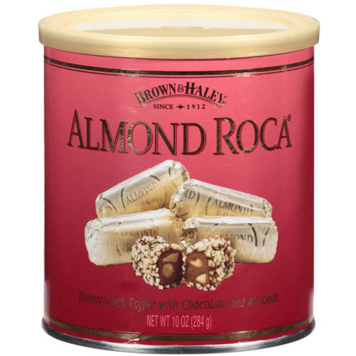Brown & Haley Roca Buttercrunch Toffee With Chocolate And Almonds, 10 oz