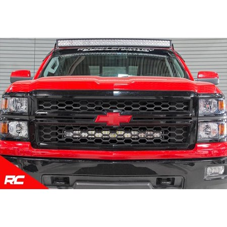 "Rough Country Custom LED Grille Mounting Kit compatible w/ 2014-2015 Chevy Silverado 1500 w/ 1 30"" Light Bar 70624"