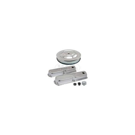 MACs Auto Parts Premier  Products 60-38832 Engine Dress-Up Kit - Chrome - 289, 302 & 351W V8 - Ford & Mercury