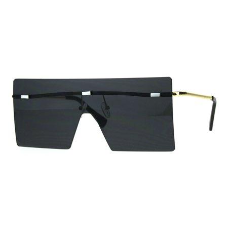 Unique Trendy Flat Panel Rectangular Shield Robotic Sunglasses (Unique Sunglasses)
