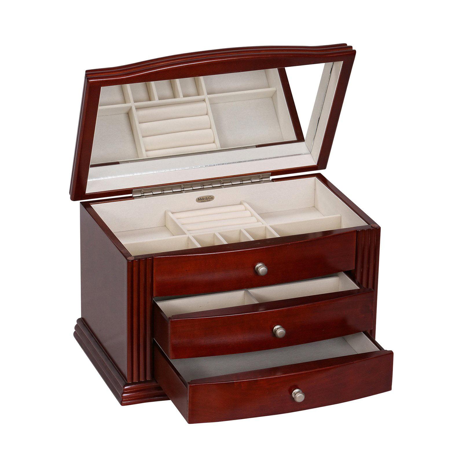 Mele & Co. Georgia Wooden Jewelry Box - Walnut