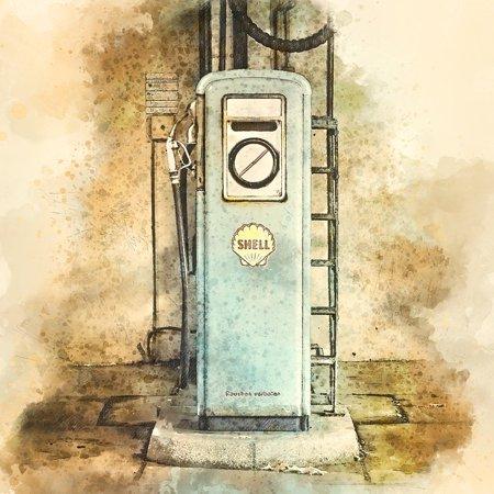 Laminated Poster Petrol Gas Gas Pump Refuel Fuel Petrol Stations Poster Print 24 X 36