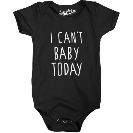 Pirate Funny Infant Bodysuit - I Cant Baby Today Funny Cute Infant Newborn Creeper Bodysuit for Babies
