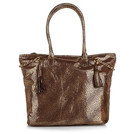 Marilyn Miglin Tote Bag, Shopper, Gift Bag ~ Gold Animal Print