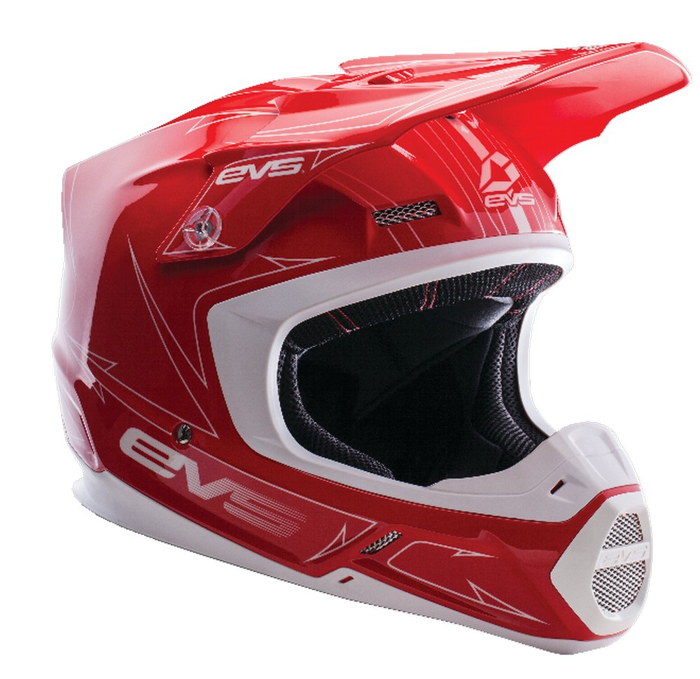 EVS T5 Pinner MX Offroad Helmet Red/White