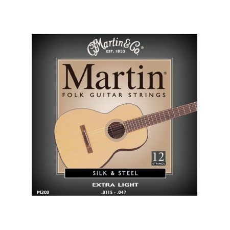 Martin M200 Silk & Steel Folk 12-String Acoustic Guitar -