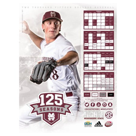 Mississippi State Bulldogs 2015 Baseball INF Poster - No Size