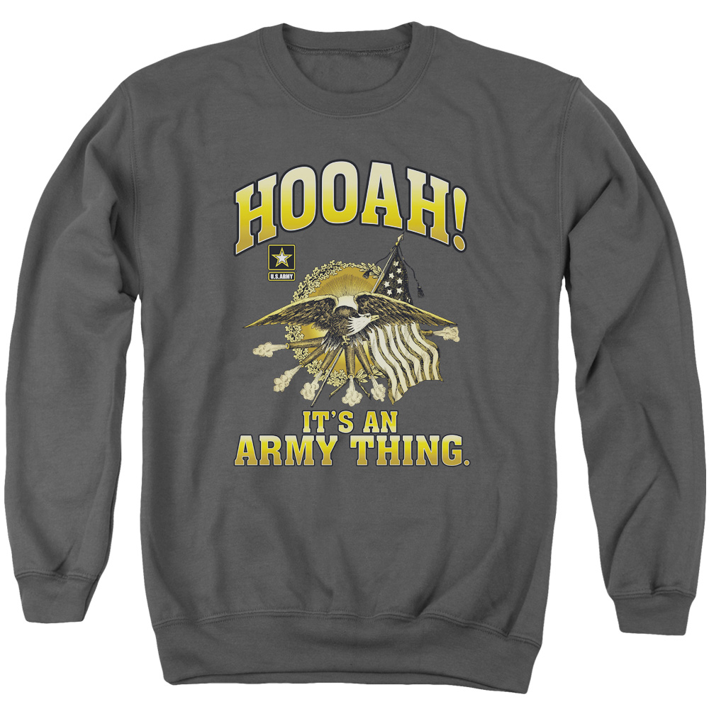 Army Hooah Mens Crewneck Sweatshirt