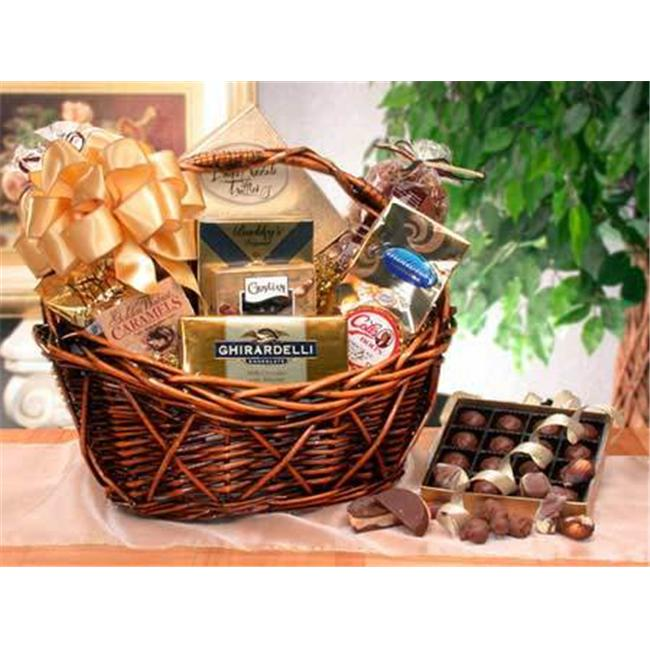 Gift Basket 81062 Chocolate Gourmet with 12'' Dark Stain Basket