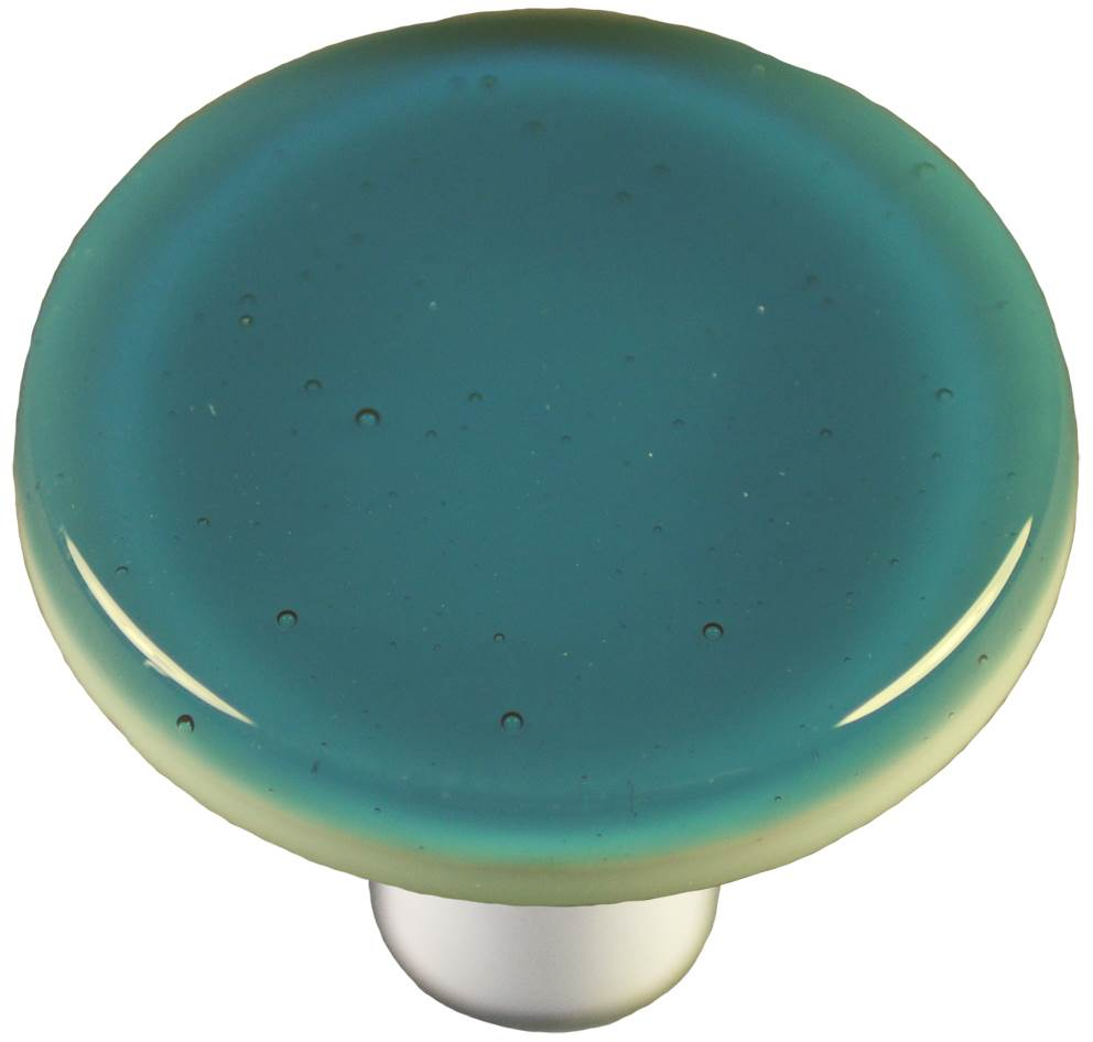 Round Knob in Steel Blue (Aluminum)