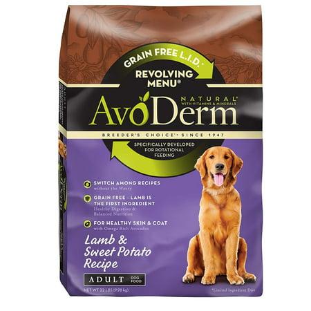 Avoderm Natural (AvoDerm Natural Revolving Lamb and Sweet Potato Recipe Menu for Adult Dog, 22 lb. )