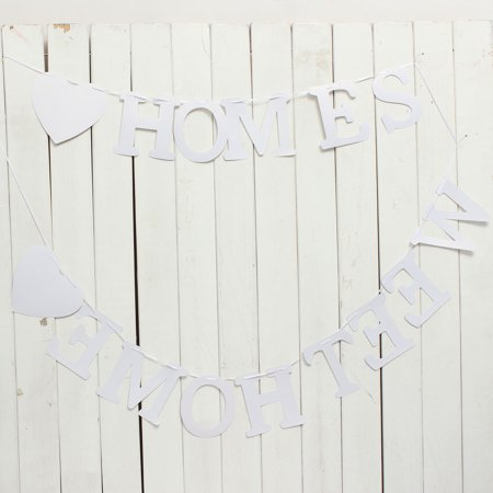 """Vintage """"Home Sweet Home"""" Wedding Banner Party Decor Bunting Photo Booth Props - image 3 of 10"""