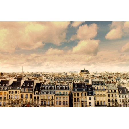 Peel-n-Stick Poster of Cityscape France Urban Landmarks Paris City Poster 24x16 Adhesive Sticker Poster Print