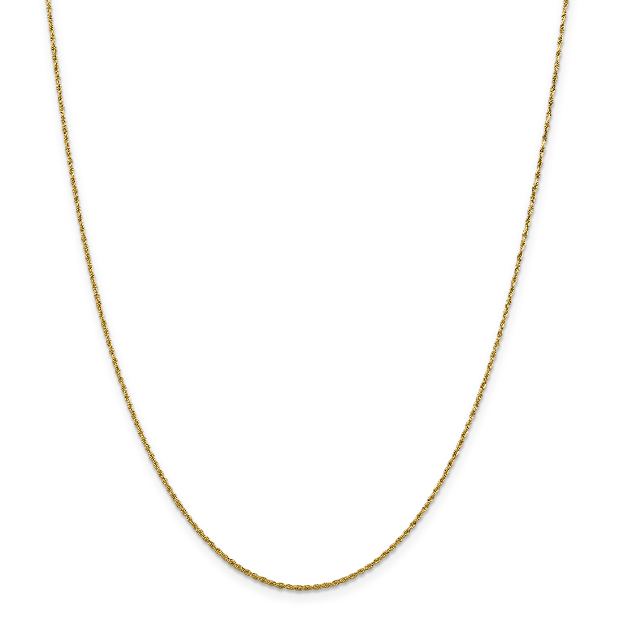14k Yellow Gold 16in 1.30mm Pendant Loose Rope Necklace Chain