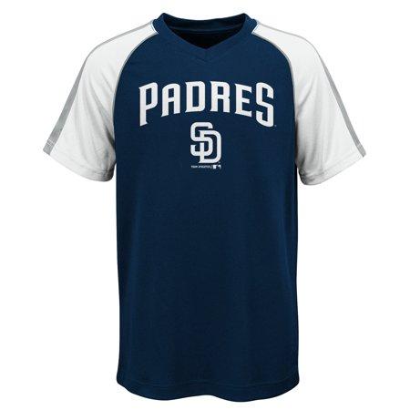 MLB San Diego PADRES TEE Short Sleeve Boys Fashion Jersey Tee 100% Polyester Pin Dot Mesh Jersey Team Tee 4-18](Halloween San Diego)