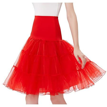 Full Length Tutu (Women's 50s Petticoat Vintage Rockabilly Tutu Crinoline Underskirts 26