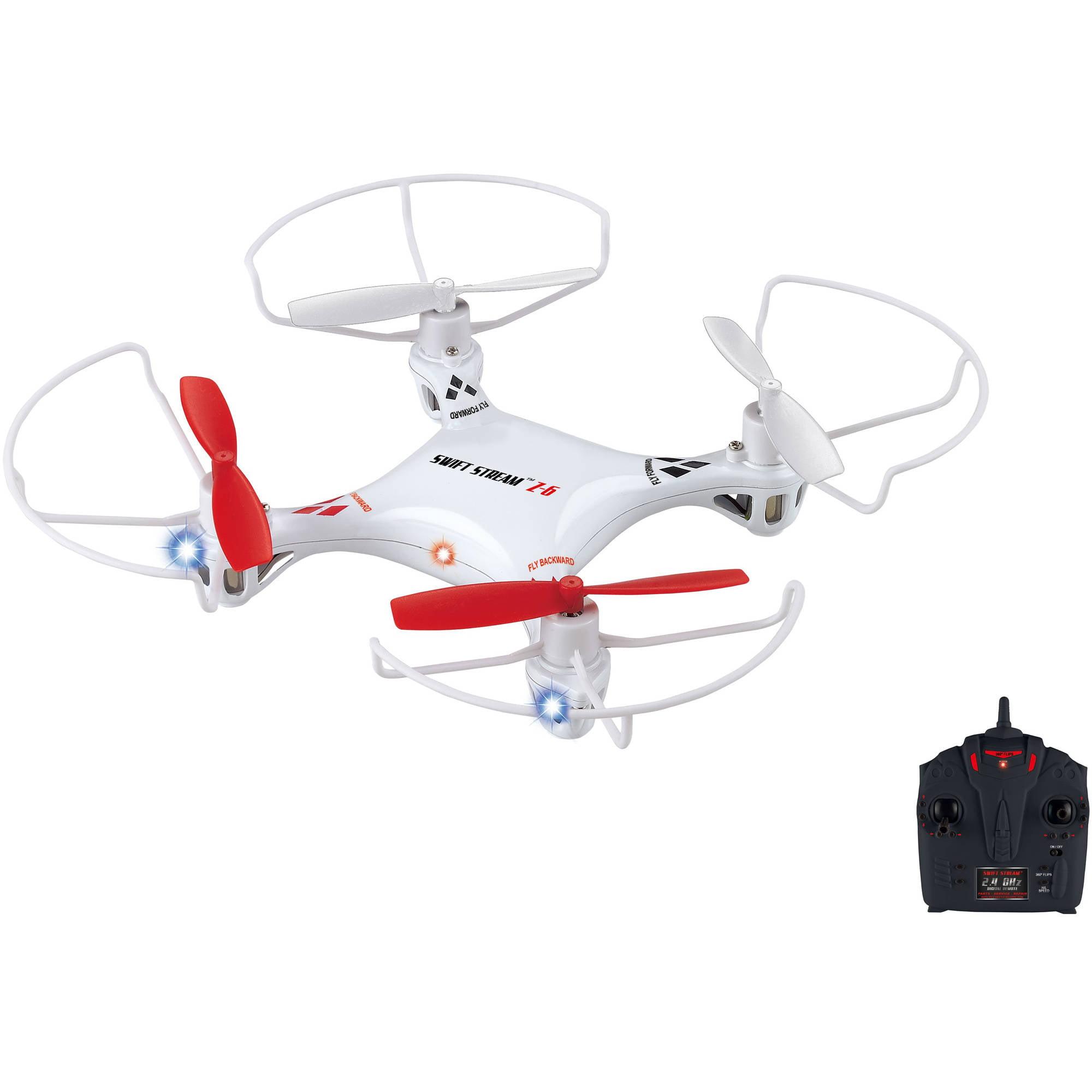 """Swift Stream Z-6 Remote Control 5"""" Drone, White"""