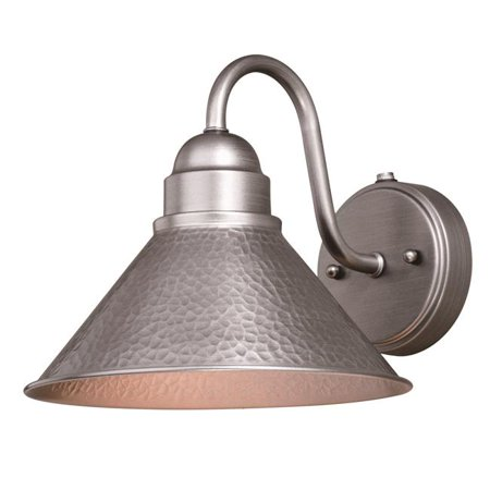 Vaxcel International T0490 10 in. Outland Outdoor Wall Light in Brushed Pewter Classic Pewter Outdoor Wall