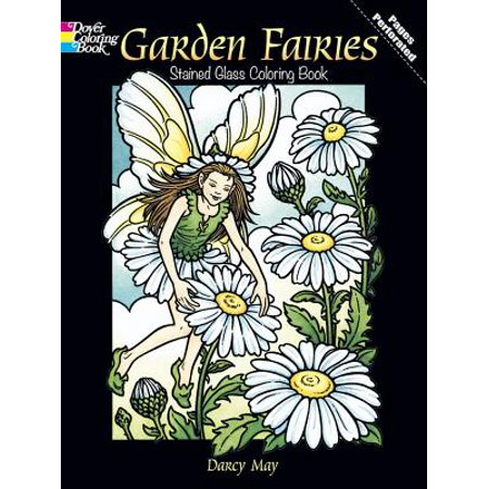 Garden Fairies Stained Glass Coloring Book for $<!---->