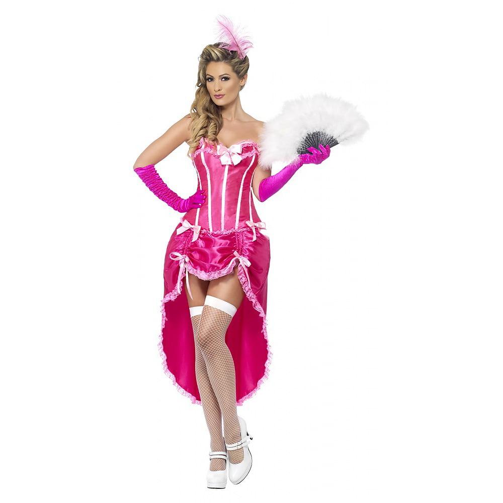Burlesque Dancer Adult Costume Pink - Large