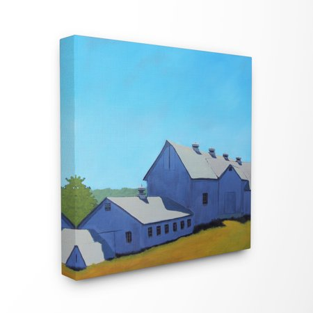 The Stupell Home Decor Collection Colorful Luminous Painted Farm House Stretched Canvas Wall Art, 17 x 1.5 x 17