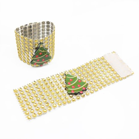 LeKing 9PCS Christmas Napkin Rings Santa Serviette Buckles Holders for Dining Table Holiday Decorations - image 7 of 9