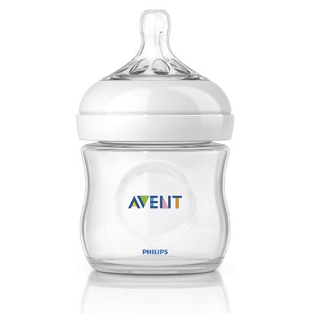 Philips Avent Natural Glass Bottle, 1 Count, 4 Ounce (4 Oz Glass Baby Bottles)