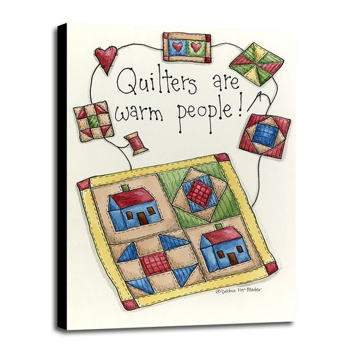 August Grove 'Quilters are Warm People' Print