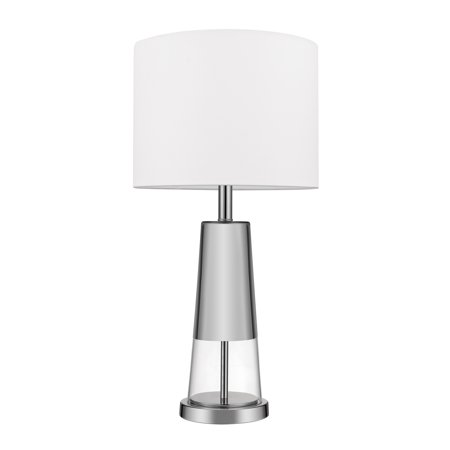 Globe Electric Grace 26u0022 Chrome Table Lamp, LED Bulb Included, 12833