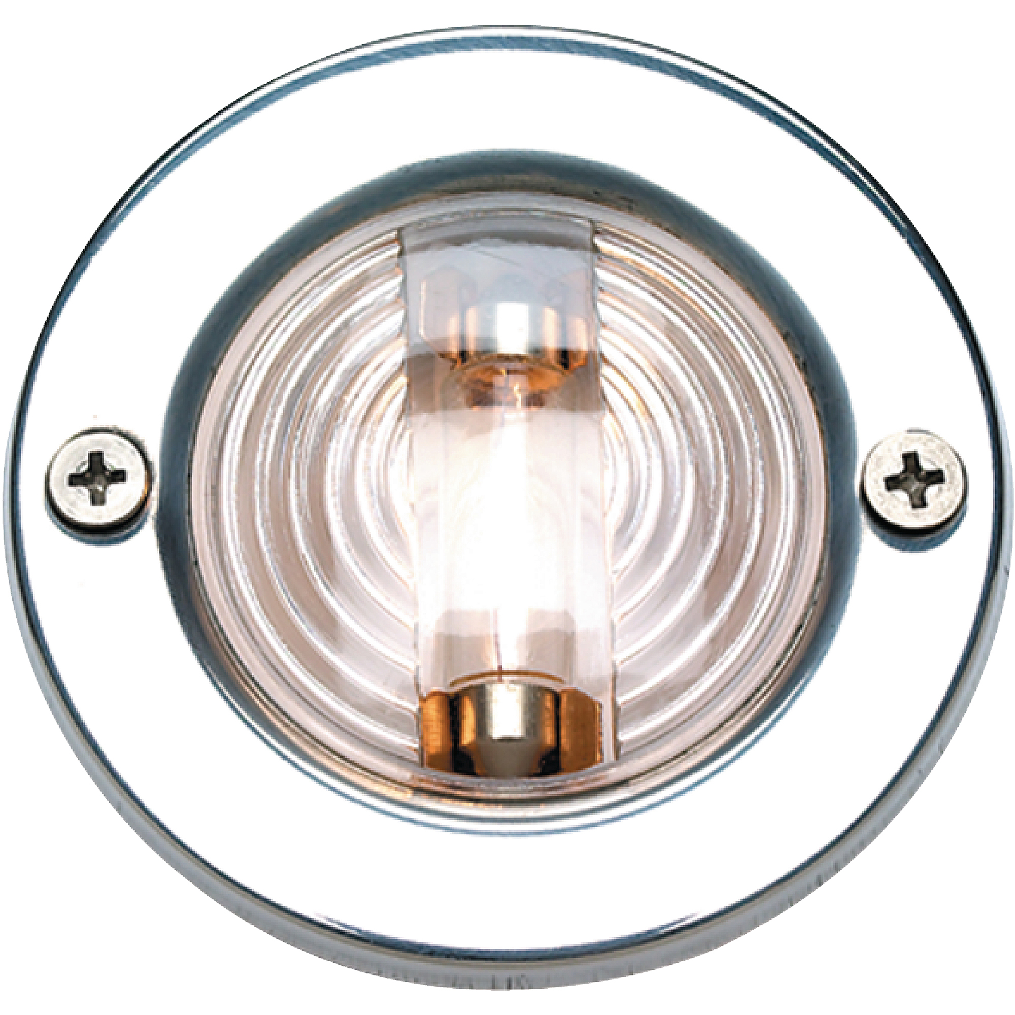 "Seachoice 3"" Transom Light with Stainless Steel Flange"