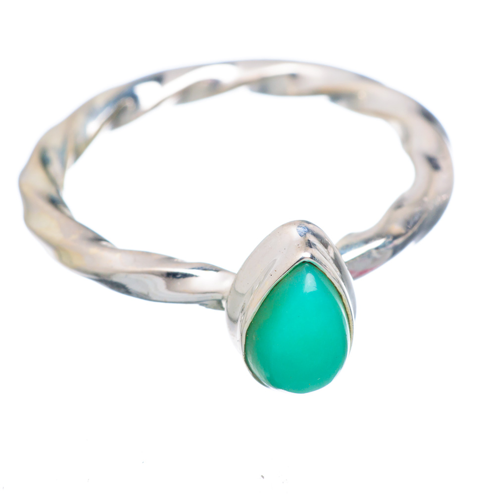 Ana Silver Co Chrysoprase Ring Size 7 (925 Sterling Silver) Handmade Jewelry RING856501 by Ana Silver Co.