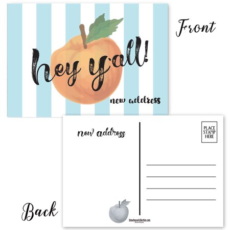 Hey Y'all Fun Moving Announcement Postcards - Moving Postcards - New Address Postcards