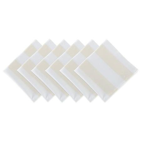 DII Natural/White Dobby Stripe Napkin (Set of 6), 20x20