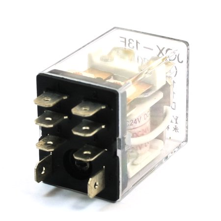 (Unique Bargains DC 24V Coil Volt Plastic Shell 8 Pins 2P2T Electromagnetic Relay)