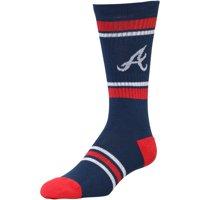 Atlanta Braves Stripe Crew Socks - Navy
