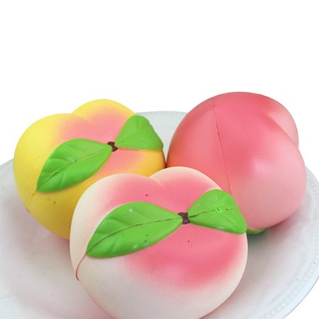 Peach Jumbo Squishy Toys Cell Phone peach Strap Pendant Fun Toy Gift - image 5 of 6