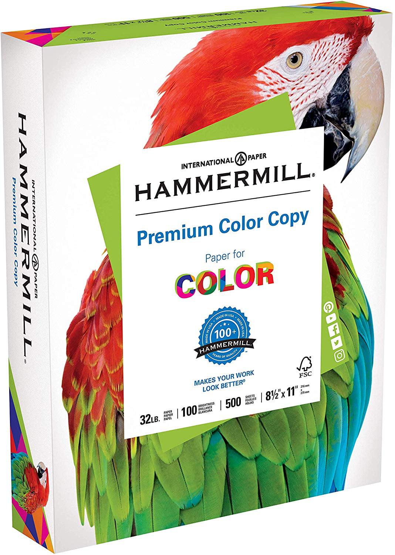 Hammermill Color Copy Digital Paper 28lb 8.5x11 Letter 100 Bright  4000 Sheets