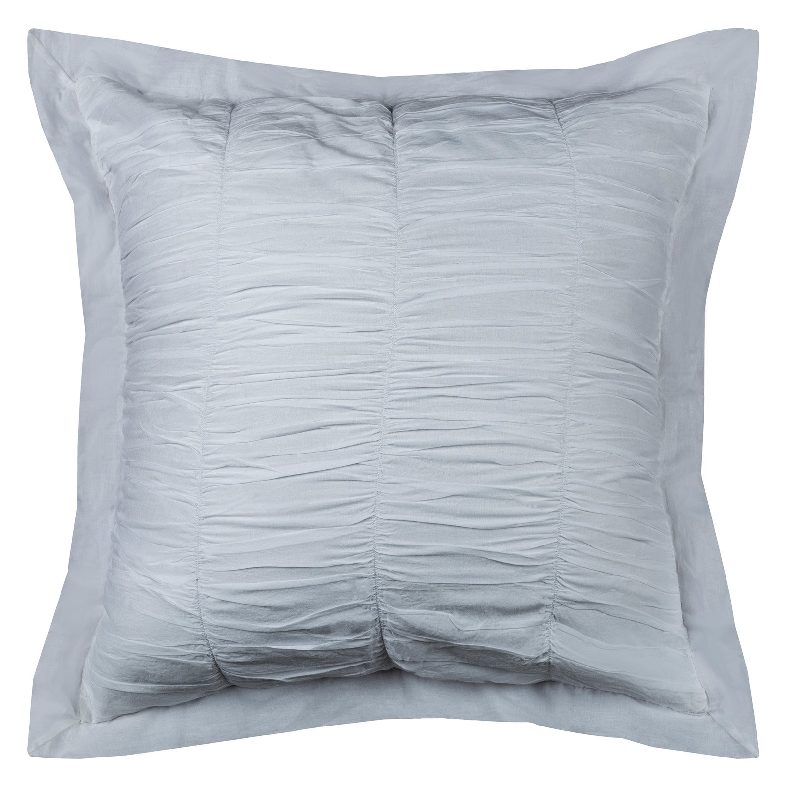 "Rizzy Home Cotton Voile White Euro Sham  26"" X 26"""