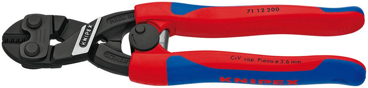 KNIPEX Tools 71 12 200 CoBolt High Leverage Compact Bolt Cutters with Spring, Comfort Grip by KNIPEX Tools