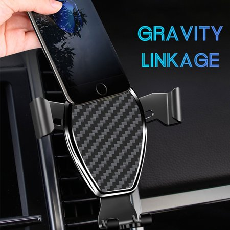 TSV Car Phone Holder, Gravity Sensor Air Vent Cell Phone Mount Holder Cradle for Samsung Galaxy S10/S10E/S9/S9 (Best Cell Phone Detector)