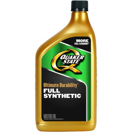 Quaker state ultimate durability full synthetic motor oil for What is synthetic motor oil made out of