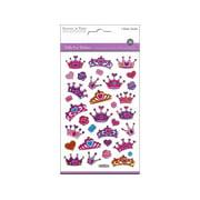 Multicraft Sticker Puffy Glitter Crowns