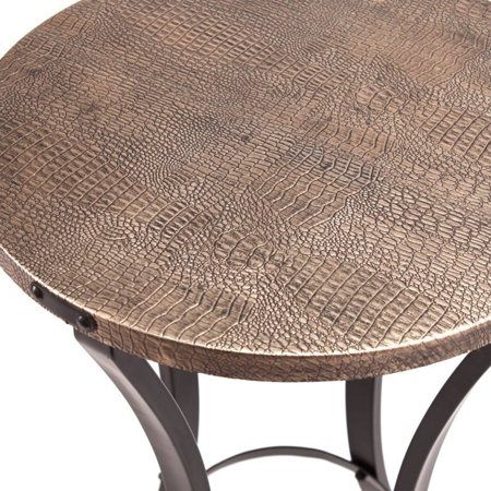 Southern Enterprises Libson Round Accent Table in Blackwashed Gold - image 4 of 6