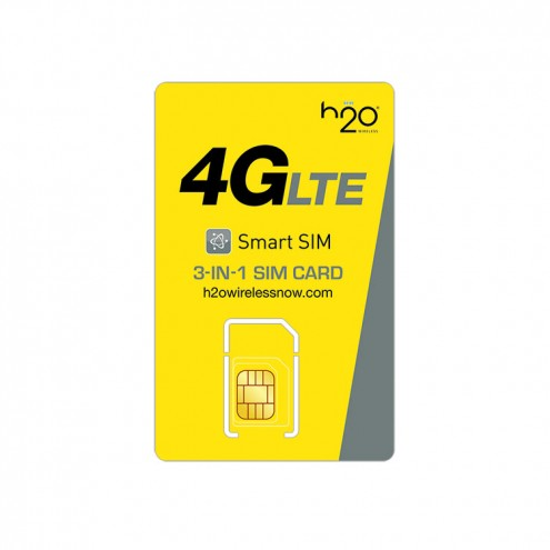 H2O Wireless 3-in-1 SIM Card with First Month Included: $30 Plan H20 Micro & Standard Size