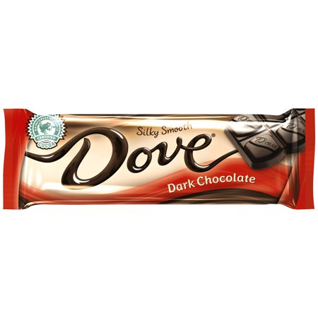 Dove Silk Smooth Dark Chocolate Bars, 1.44 Oz., 18 Count