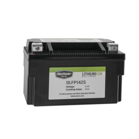 BikeMaster Lithium-Ion Battery 250 Cranking Amps 148L x 87W x 94H (DLFP14ZS)
