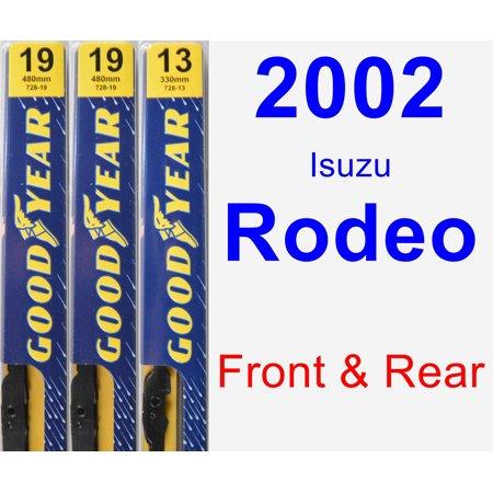 2002 Isuzu Rodeo Wiper Blade Set/Kit (Front & Rear) (3 Blades) -