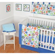 Sumersault Simple Circles Navy 10pc Nurs